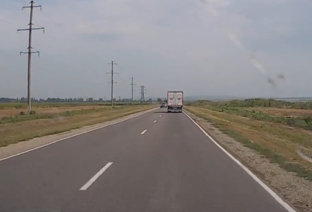Неожиданный момент на трассе