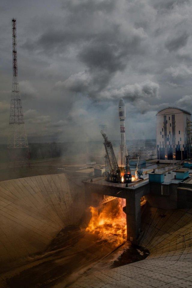 Космодром Восточный сегодня. Старт ракеты «Союз» (2 фото + видео)