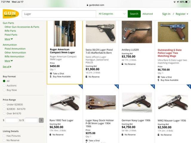 Оружейные интернет-магазин в США (18 фото)