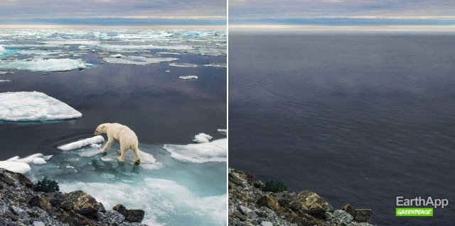 "Greenpeace ""состарила"" землю использовав идею FaceApp (3 фото)"