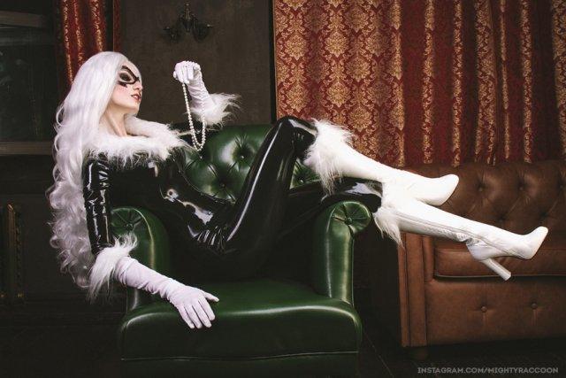 "Косплей на ""Чёрную кошку"" (4 фото)"