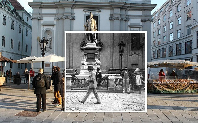 Фотосравнение: архивные снимки Вены прошлого века и фото современной столицы (10 фото)
