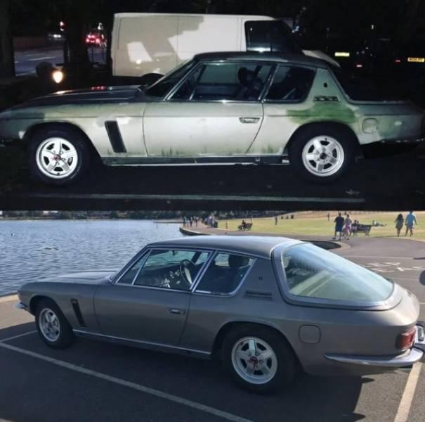 Отреставрированные и ухоженные автомобили (31 фото)