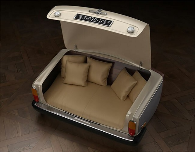Стильная мебель из деталей старых автомобилей (11 фото)