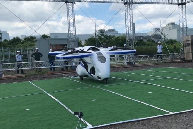 В Японии провели испытания летающего автомобиля от компании NEC