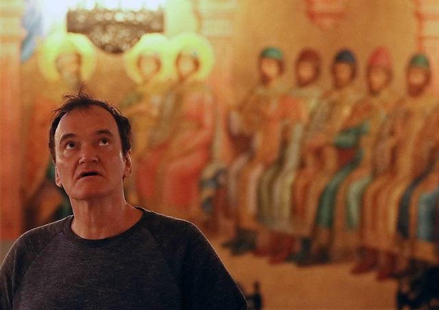 Квентин Тарантино на экскурсии в Кремле (9 фото)