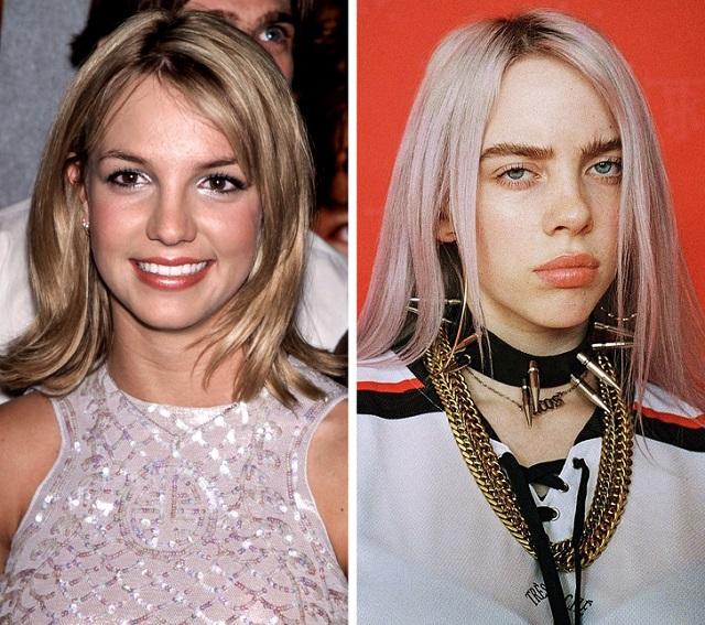 Как выглядят звезды прошлого и знаменитости молодого поколения в одном возрасте (19 фото)