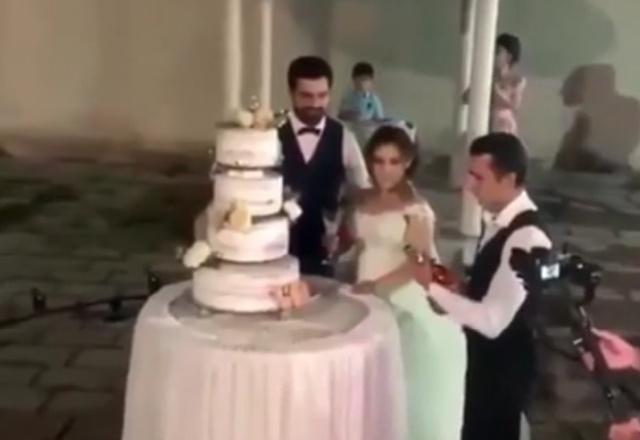Эффектный трюк на свадьбе