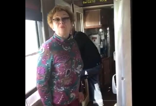 Слишком нервный пассажир поезда