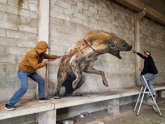 Невероятно реалистичные 3D-граффити от художника из Португалии (22 фото)