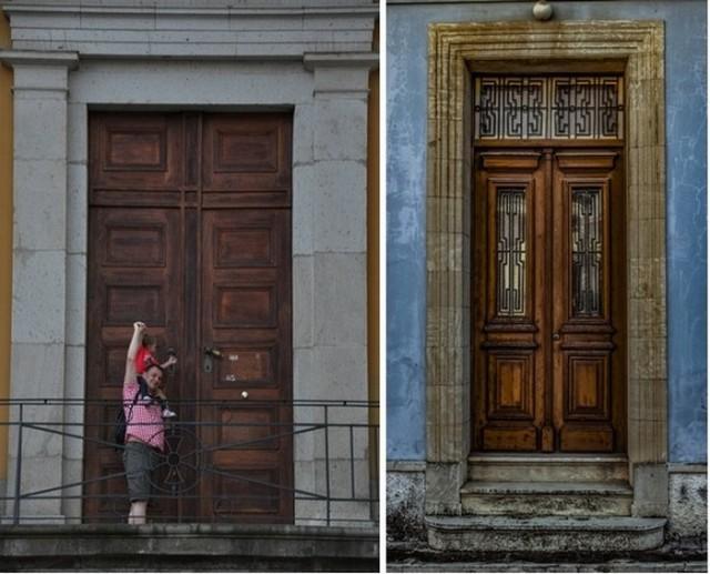 Для чего в старинных зданиях Санкт-Петербурга делали такие огромные двери? (2 фото)