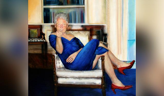 В кабинете покойного миллиардера Джеффри Эпштейна нашли очень странный портрет