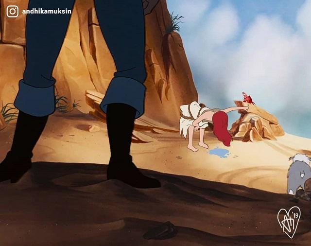 Сказочные принцессы Disney и жестокий реализм (15 картинок)