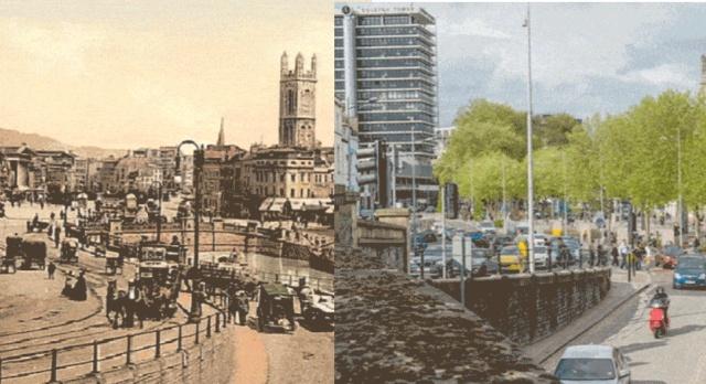 Фотосравнение: Викторианская и современная Великобритания (7 гифок)