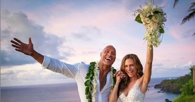 """Дуэйн """"Скала"""" Джонсон женился на певице Лорен Хашиан (13 фото)"""
