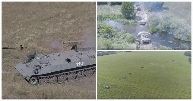 Минобороны опубликовало видео масштабных учений в Брянской области