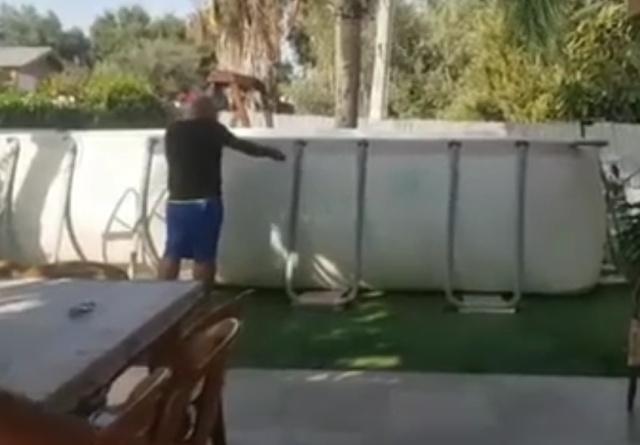 Как не нужно спускать воду из каркасного бассейна
