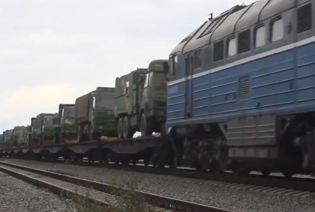 Военная техника и военнослужащие армии Китая прибыли в Оренбургскую область