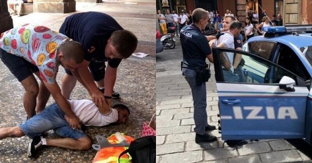 Саня и Толя - гроза итальянской преступности  (4 фото)