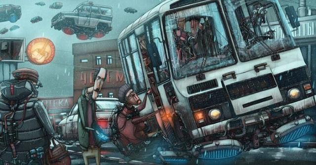 Фантастическая Россия в иллюстрациях художника из Красноярска (20 фото)