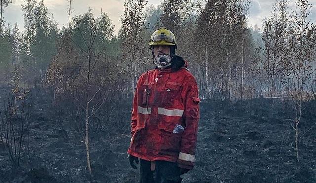 Дима Билан помогал тушить торфяники под Рязанью (2 фото + видео)