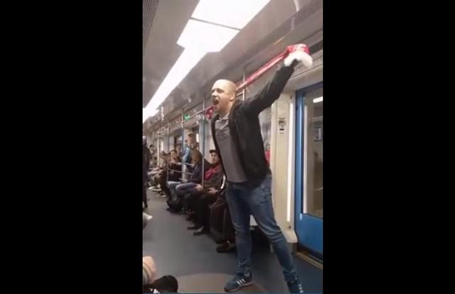 """Фанат """"Спартака"""" потерялся в вагоне метро"""