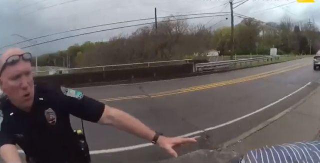 Полицейский вытащил самоубийцу с того света. Его реакции можно позавидовать