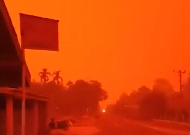 Лесные пожары превратили Индонезию в ад (5 видео)