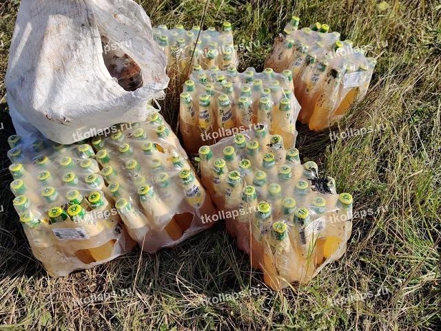 """Огромная """"алкогольная свалка"""" под Петербургом (11 фото + видео)"""