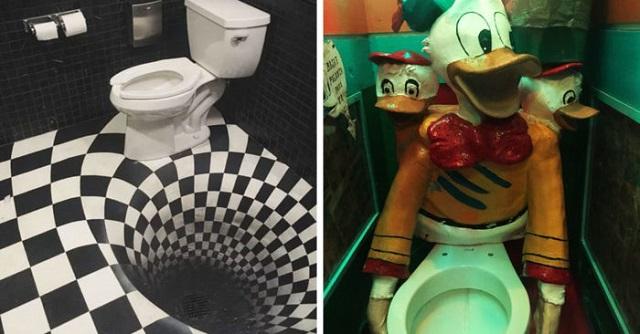 Безумные дизайны туалетных комнат (20 фото)