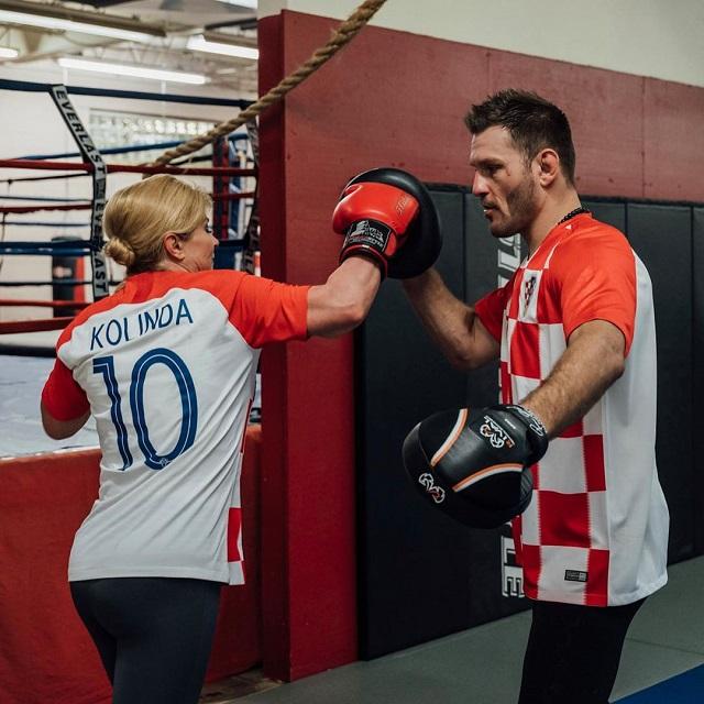 Чемпион UFC Стипе Миочич провел тренировку с президентом Хорватии (6 фото)