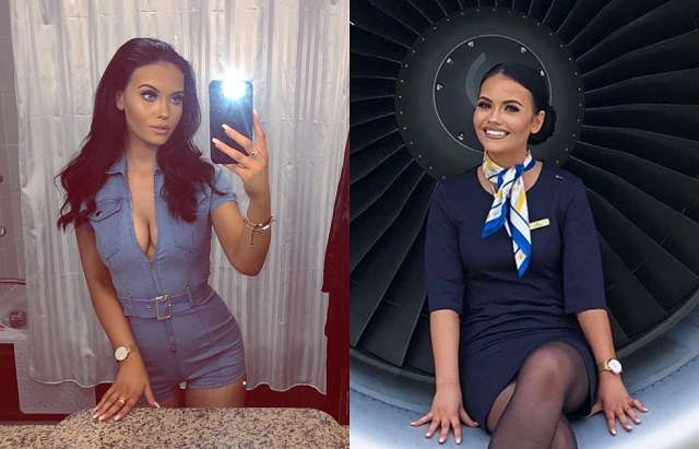 Хлоя Бэйн - соблазнительная стюардесса-блогерша из Великобритании (20 фото)
