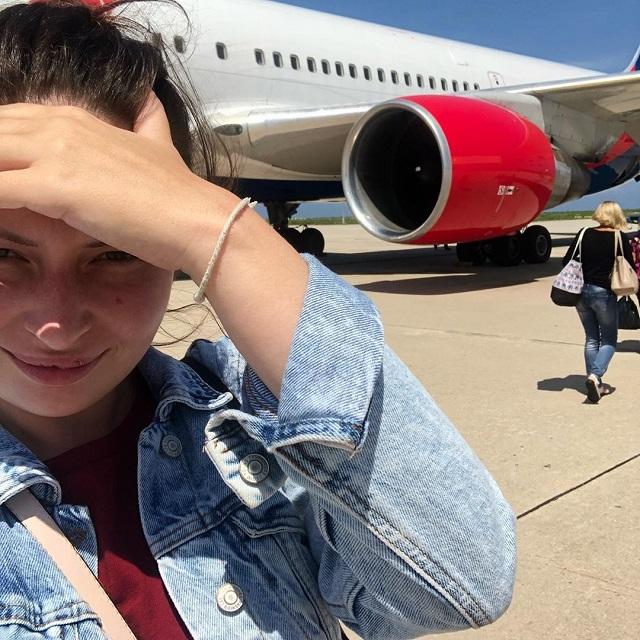 В аэропорту Барнаула у Boeing 767 при посадке загорелась стойка шасси