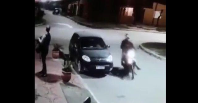 Грабители подъехали к жертве, а потом все пошло не по плану