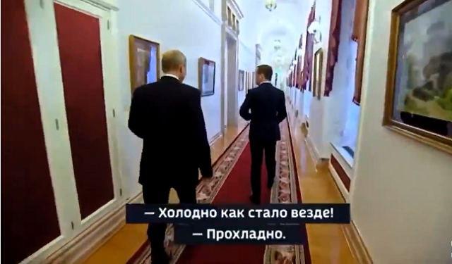 Владимир Путин и Дмитрий Медведев замерзают на работе