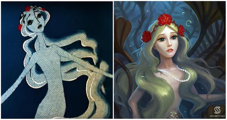Художница перерисовала советских принцесс в современном стиле (8 фото)
