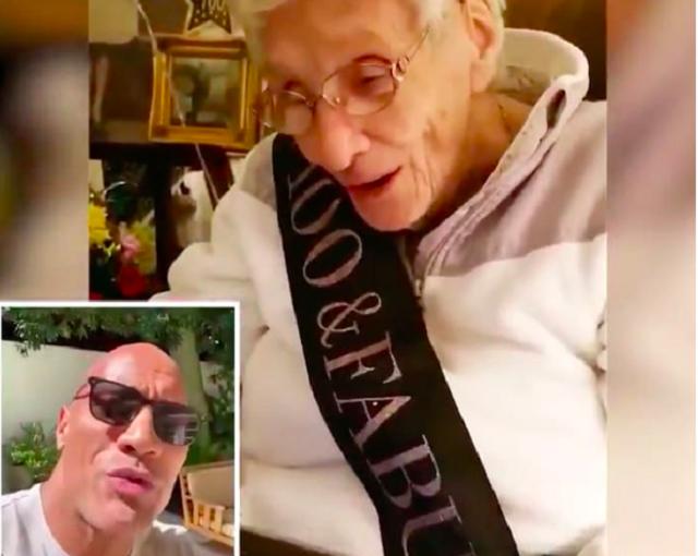Дуэйн Джонсон поздравил свою самую пожилую поклонницу со 100-летием