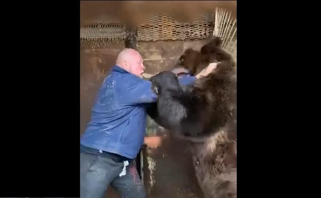 Боец ММА Максим Новосёлов поборолся с медведем