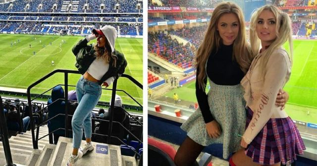 Очаровательные болельщицы на российских стадионах (22 фото)