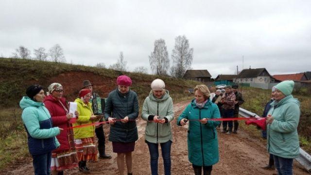Торжественное открытие дороги в удмуртской деревне (4 фото)