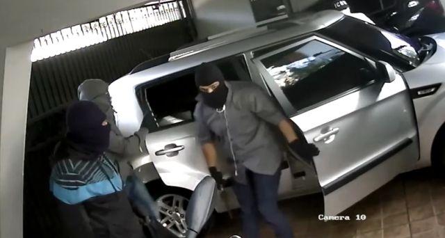 Попытка ограбления дома в Бразилии попала на видео