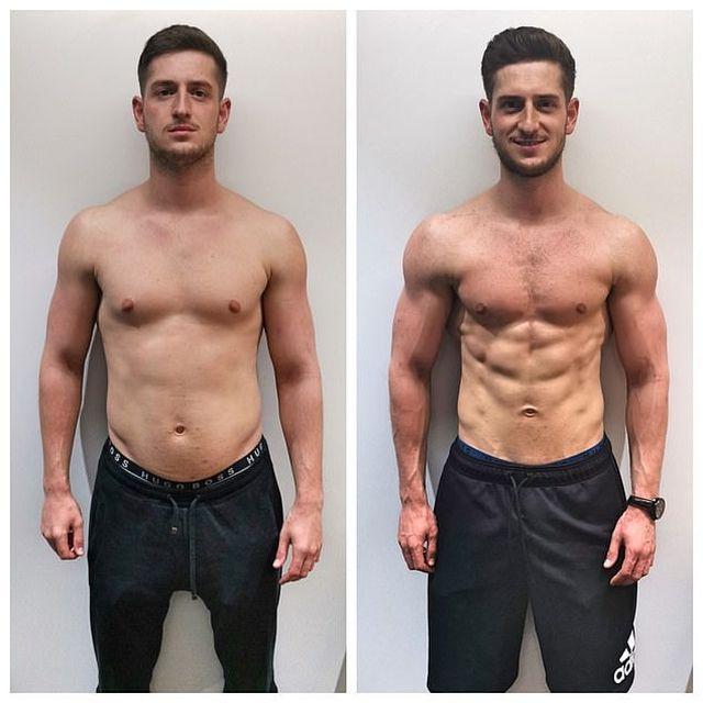 Фото до и после тренажерного зала мужчины
