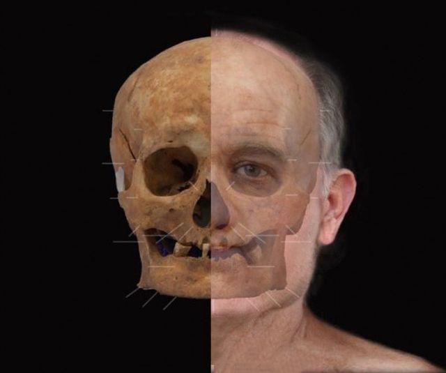 Ученые воссоздали лицо шотландца, жившего 600 лет назад (3 фото)