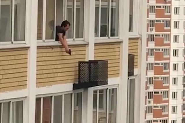 Такое точно не ожидаешь увидеть, когда выходишь на балкон