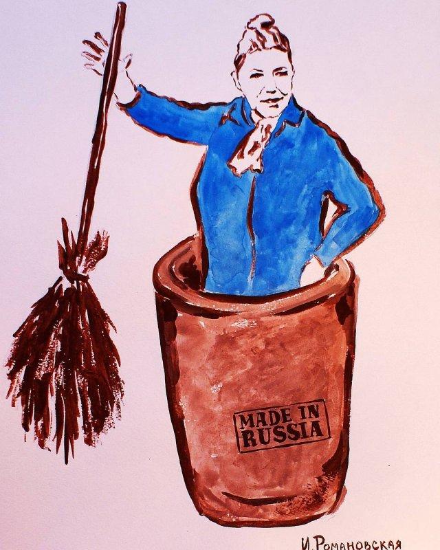 Ирина Романовская - художница из Питера, которая пишет картины пышным бюстом (11 фото)