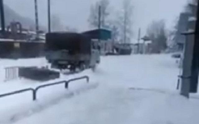 Бурятские инновации при уборке снега