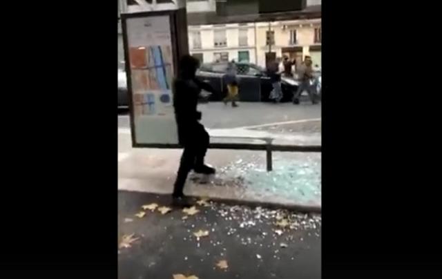 Пластмассовый мир победил: парижский протестующий против остановки