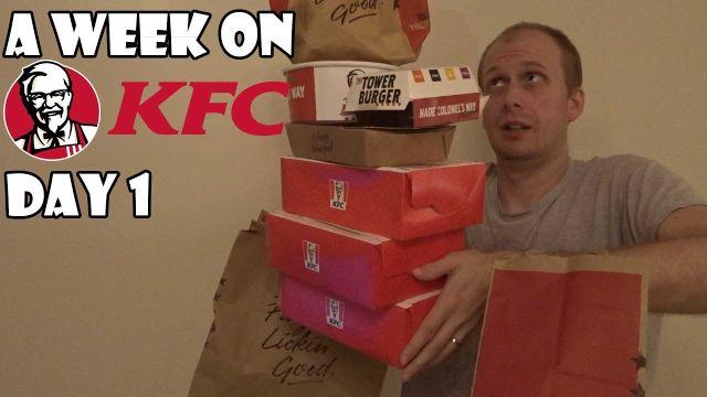 Блогер Майк Дживонс целую неделю ел в KFC и в итоге похудел (7 фото)