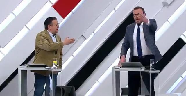 """На российском шоу """"Кто против?"""" украинский эксперт отправил американца в нокаут"""