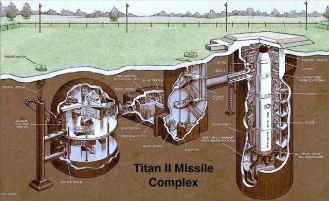 В США выставили на продажу подземный бункер со старой шахтой для запуска ядерных ракет (10 фото)